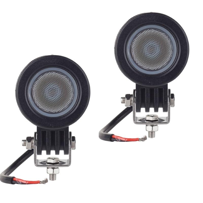 2pcs CREE chip 10W LED Work Light 2 Inch 12V Car Auto SUV ATV 4WD 4X4 Offroad LED Fog Lamp Motorcycle Truck Headlight