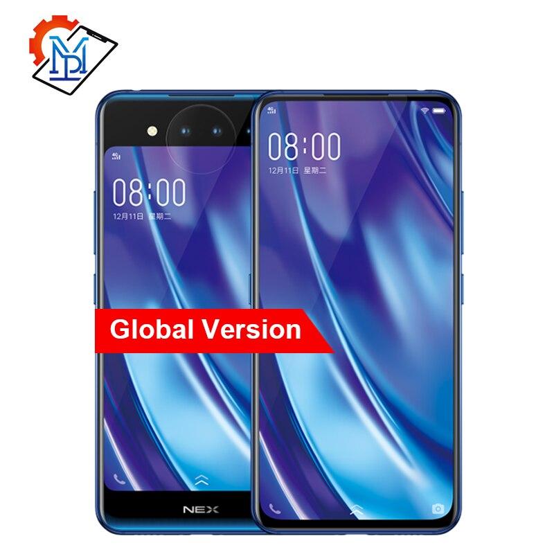 Global Vivo NEX 2 Dual Display Do Telefone Celular 6.39 10G RAM 128G ROM Snapdragon 845 Núcleo octa android 9.0 3D TOF Câmeras de Smartphones