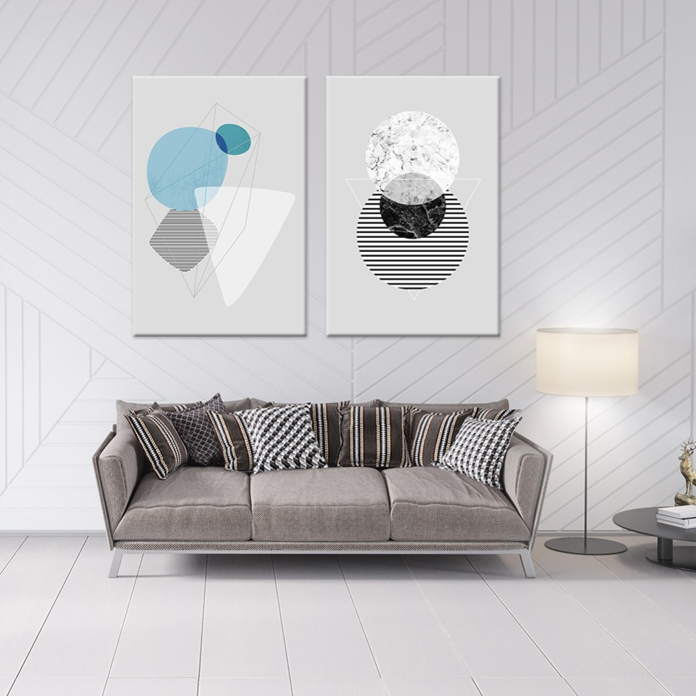 Art, Painting, Geometry, Home, Posters, Nordic