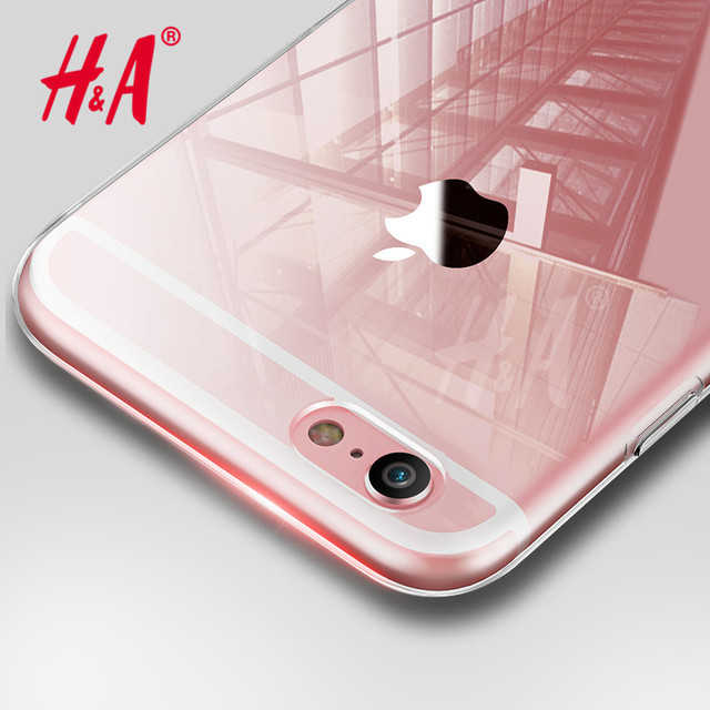 H&A Ultra Thin Soft transparent TPU Case For iPhone 6 6s Plus 5 5s clear silicone Case Cover For iPhone 7 7 Plus Phone Bag Case