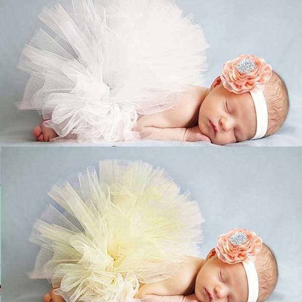 ab2a9c96c7a2 2019 NEW 2 Colors Baby Tutu Skirt With Matching Flower Headband Stunning  Newborn Photo Prop 0 6 Months Girl Tutu Skirt-in Skirts from Mother & Kids  on ...