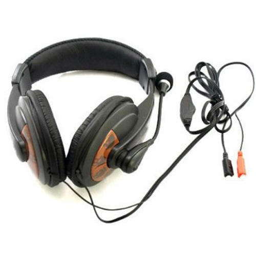 EDT-New Black Sensitive Computer PC Laptop Headphone Headset Microphone Mic