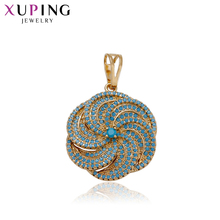 11.11 Deals Xuping Fashion Round Flower Necklace Pendant With Synthetic CZ for Women Thanksgiving Jewelry Gifts 33079