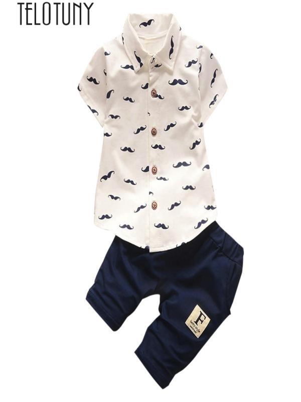 Toddler Kids Baby Boys Beard T Shirt Tops Shorts Pants Outfit Clothes Set