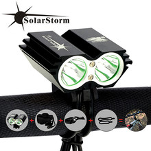 SolarStorm X2 Bike Light 5000Lm Waterproof XM L U2 LED Bicycle Headlight Lamp Flash light Rechargable