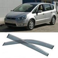 New 4pcs Blade Side Windows Deflectors Door Sun Visor Shield For Ford S MAX