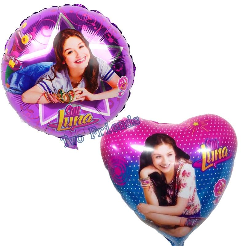 Soy Luna foil balloons Luna theme party party decoration balloon Princess Globos 18inch girls birthday party decoration 10pcs