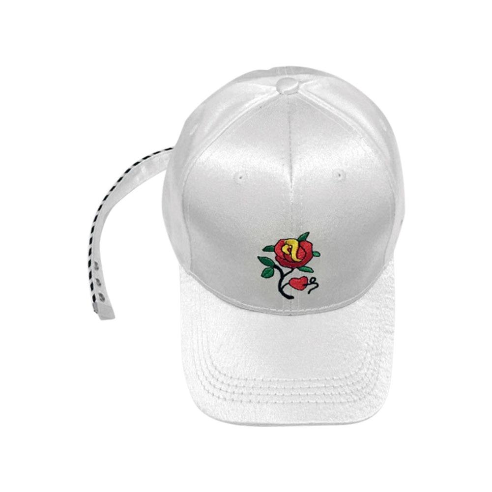 2d6de2d5e67 Fashion Korean Summer Men And Women Baseball Cap Rose Flower Embroidery Hat  Snapbacks Caps Unisex Hip Hop Hats JL-in Baseball Caps from Men s Clothing  ...