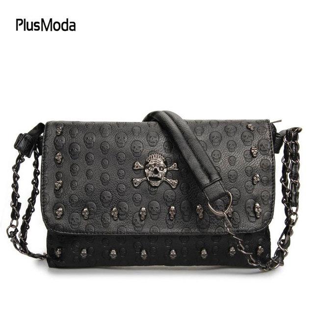 Women S Handbags Skull Shoulder Bag Womens Envelope Messenger Small Crossbody Bags For Long Chain