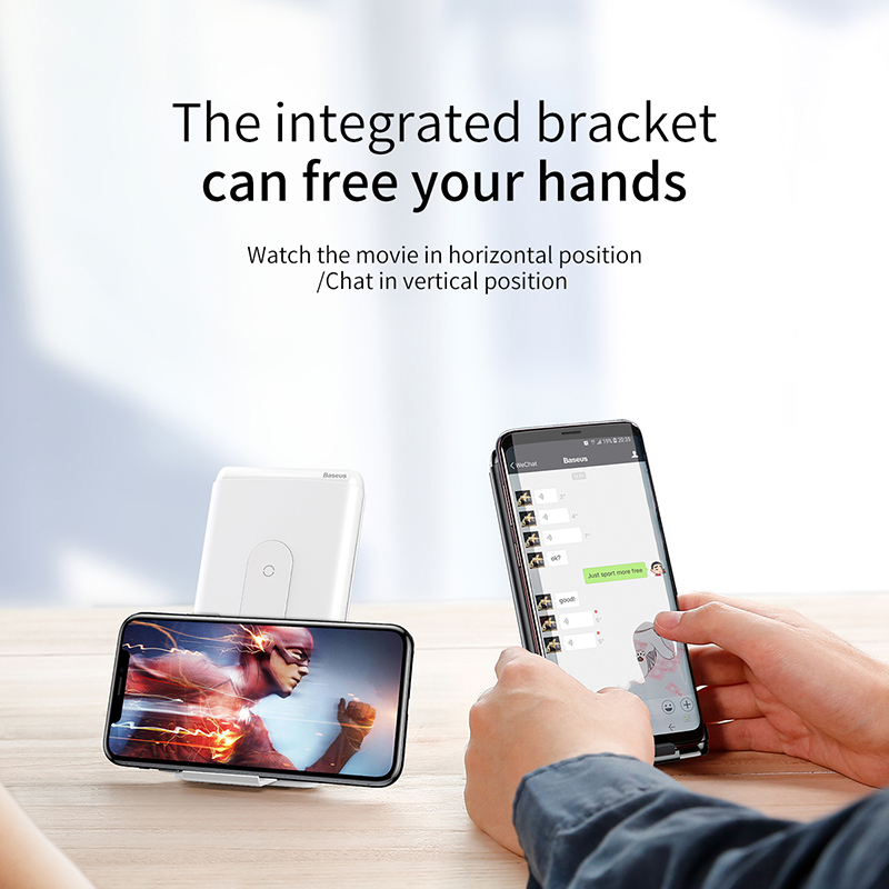 Baseus 10000 mah charge rapide 3.0 batterie externe Qi Sans Fil Chargeur Poverbank Pour iPhone Xiao mi mi USB C PD Rapide De Charge Powerbank - 6