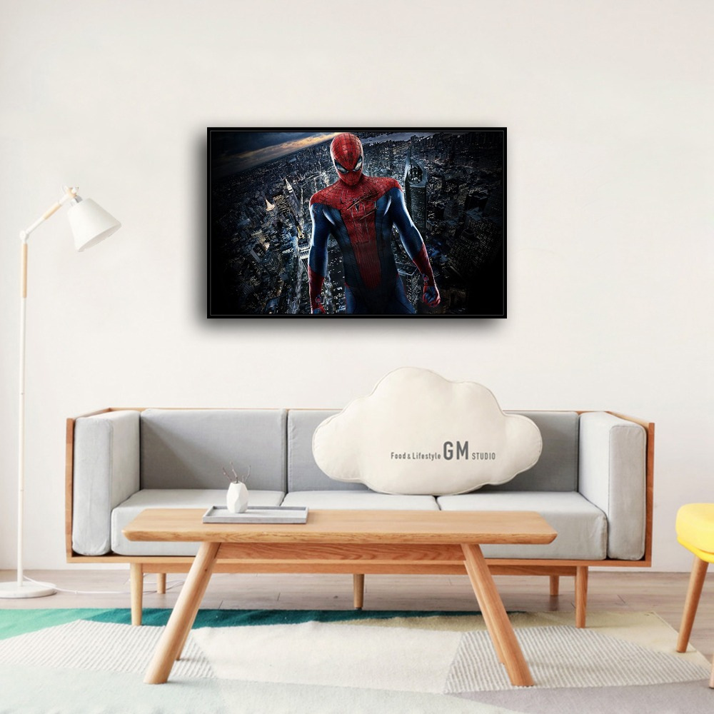 A3863 Jumping spider man Superman Movie Hero .HD Canvas Print Home ...