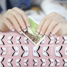 цена на New Fashion 15pcs French Style Manicure Nail Art Tips Tape Sticker Polish DIY Stencil Quality Beauty New