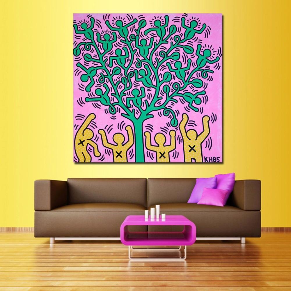 JQHYART Keith Haring Milano Oil Painting Wall Art Canvas Decorative ...