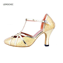 LEMOCHIC newest pole latin samba tango ballroom dance adult female models good quality performance arena classical dancing shoes
