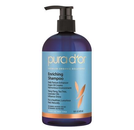 Pura D'or Premium Organic Solutions Enriching Shampoo, 16oz стоимость