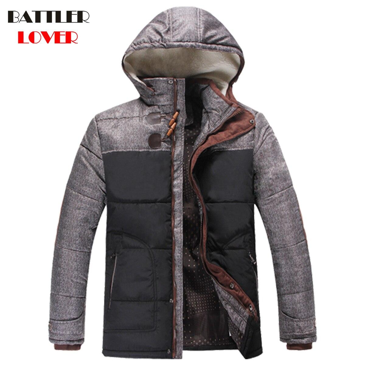 2017 Для мужчин зимняя куртка пальто толстые теплые хлопковые парки куртка Для мужчин S Сверхлегкий брендовая одежда парка человек с капюшоно...