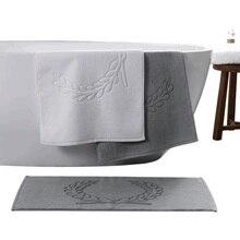 Luxury 100% Cotton Hotel Home Flool Towel 45*75cm 50*80cm Bathroom Carpet Absorbent Non-slip Bath Mat Step Foot Pad Toilet Rugs