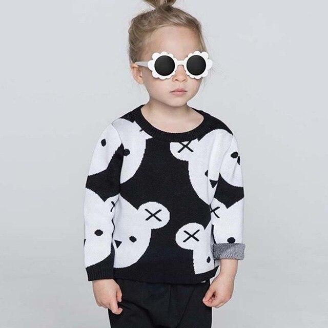3e2fdc3ed BBK INS baby girl clothes cute cartoon Cotton knitting Woolen ...
