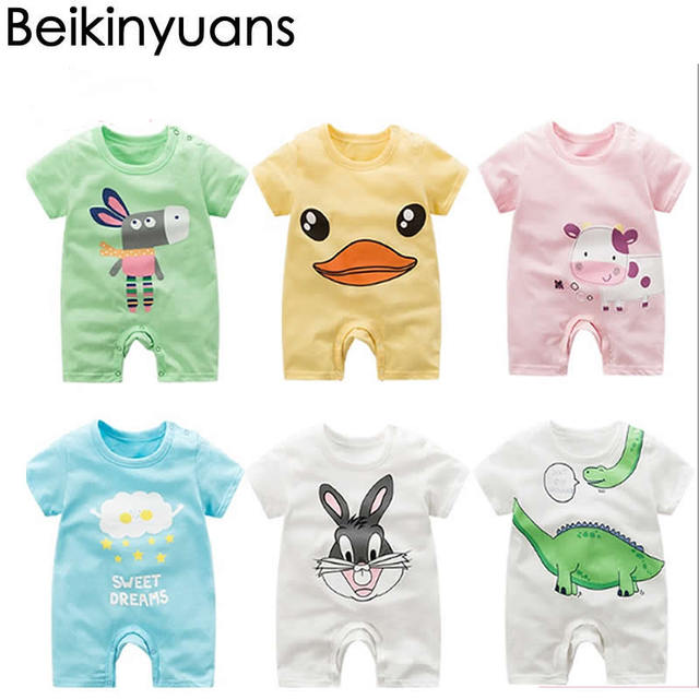 dede30871 Baby Short Sleeve One piece Cotton Brands Baby clothes Girls Romper ...