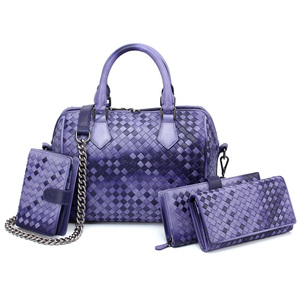 Image 5 - 2020 Brand Genuine Leather Bag Women Handbag Knitting Large Capacity Ladies Shoulder Crossbody Bags Casual Tote Bolsa Feminina