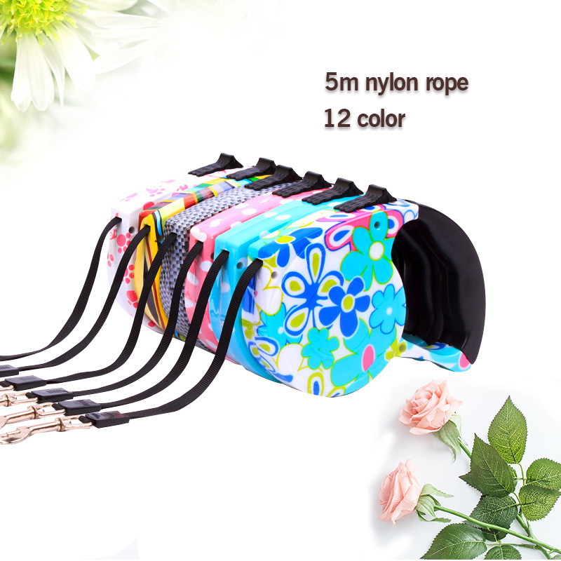 12 Color Dog Harness ABS Automatic Retractable Belt Line Puppy Collar Leash Patrol Rope Walk Cat
