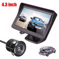 Car Rearview Reversing Camera Parking Backup Monitor System + 4.3 inch Color LCD Car Monitor Waterproof