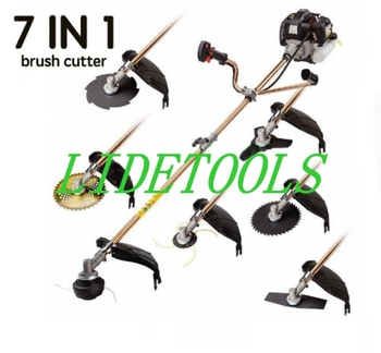 New model 7 IN 1 Brush cutter,whipper snipper,grass trimmer with metal blades,auto bump feed head