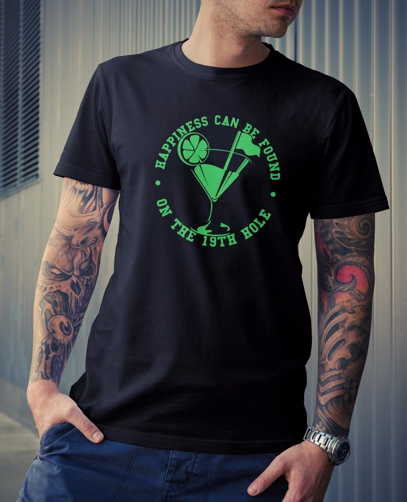 19th Hole Mens Tee - Gift Golfed Novelty Dad Fathers Day Joke Funny Grandad Hole Top Quality T Shirts Men O Neck top tee
