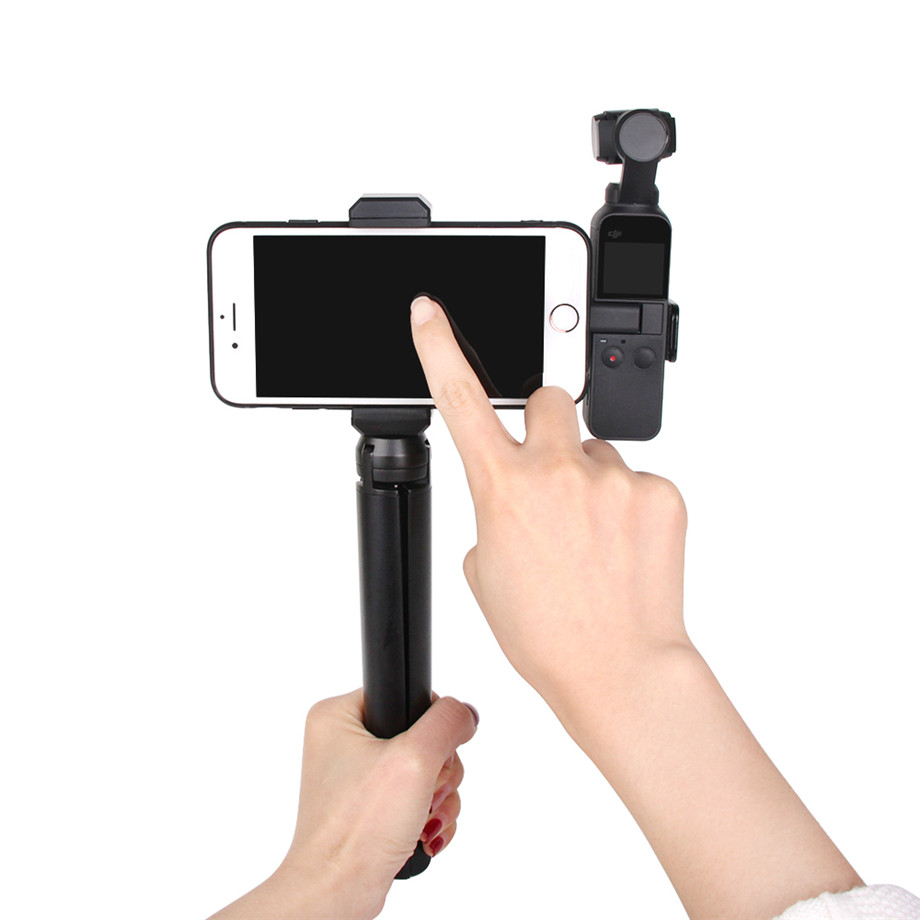 OSMO Pocket Smartphone Fixing Bracket Stand Clamp Extending Rod Tripod for DJI OSMO POCKET Gimbal Accessories 24