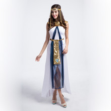 2017 Halloween Egyptian Queen Cosplay Custome Greece Egyptian Princess Fancy Dress Queen Of the Nile Arabian Queen Costume