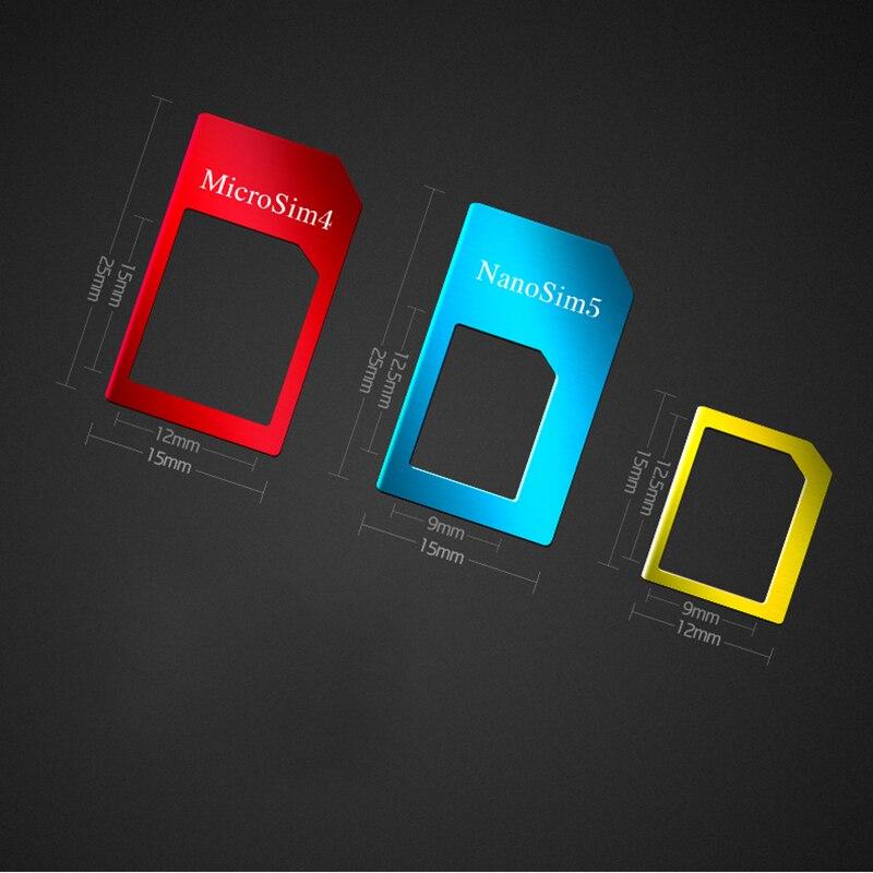 5 in 1 Sim Card Adapters For Huawei Y3 2 II ii / Honor Bee 2 Nano Micro Standard Sim Card Adapter abrasive Bar Card Pin