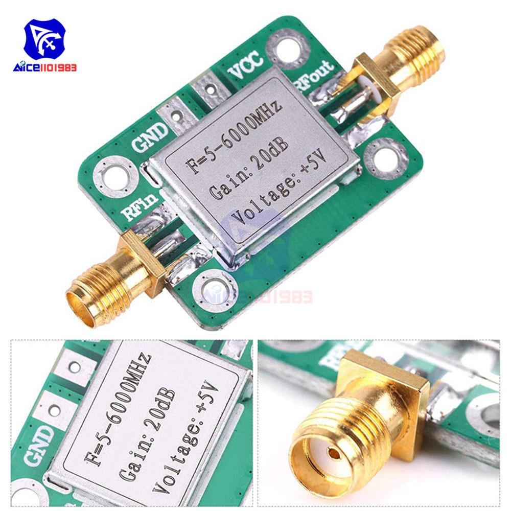 LNA 5 -6000MHz RF Broadband Gain 20dB Low Noise Amplifier Module With Shielding Shell For Shortwave FM TV Audio Amplifier Board