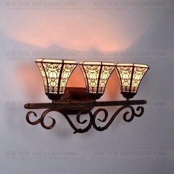 Tiffany moda avrupa tarzı duvar lambası barok Bohemia ayna ışık rustik yatak aydınlatma lambaları