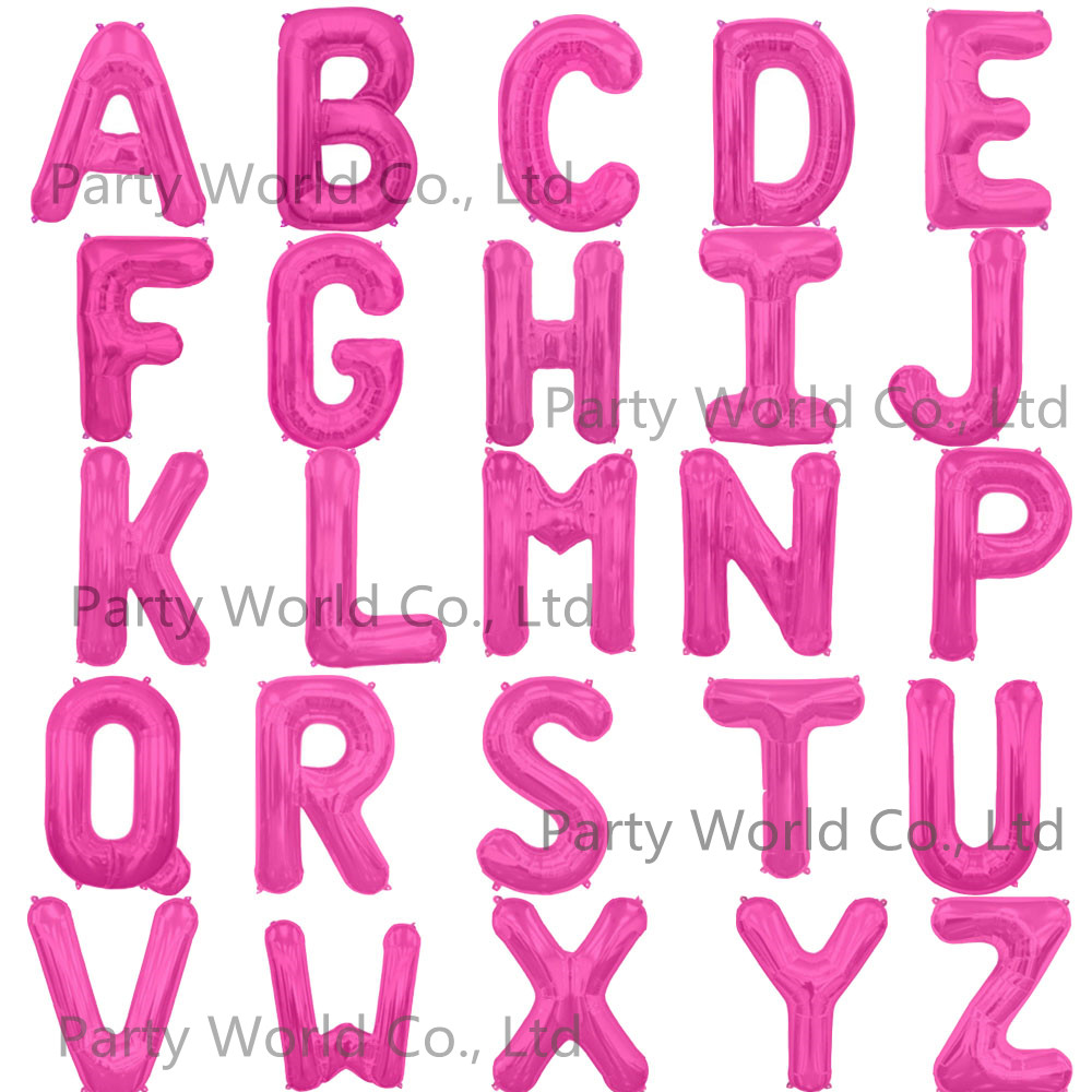 Aliexpress.com : Buy 40 Inch Pink Letter Foil Balloons Birthday ...