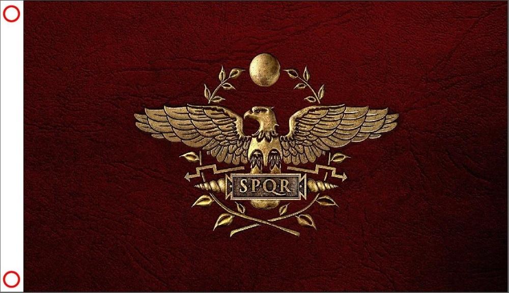 3x5 FT Roman Empire Flag High Quality Large SPQR Flag Home Decor Polyester Flying Banner