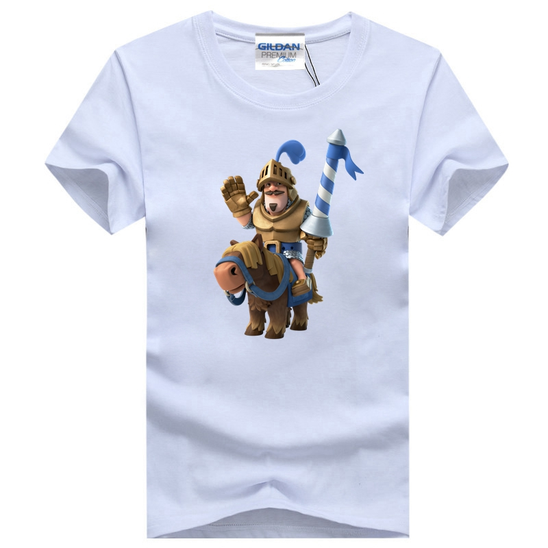 Popular Card Game CR Characters Fireball Wizard Prince Men Transfer Top 3D Print Cotton Unsex T-shirt Suit Homme Drop Shipping