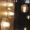 T Simples Lâmpadas de Parede de Moda Criativa LOFT Retro Moderno Vidro bola Luzes LED Chip Modern Varanda Do Quarto Iluminação Para Casa 5 peças