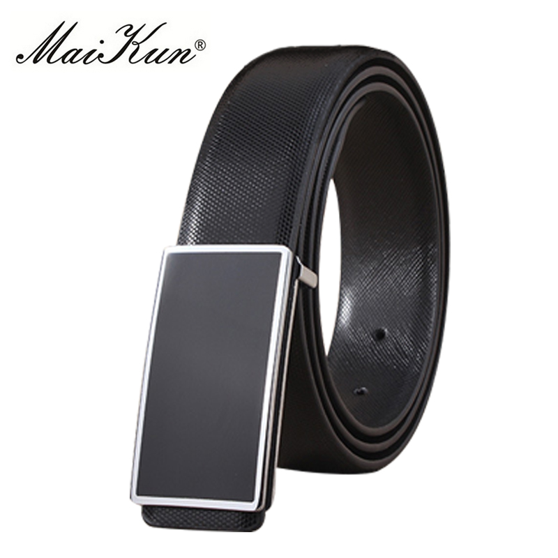 Maikun PU Leather Belts for Unisex Designer Brand Luxury Belt for Men Women High Quality Belt for Jeans