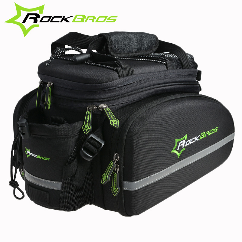 ROCKBROS Cycling Rear Saddle Pack Bag Bicicleta Multi-fonction Bags Bike Bicycle Rear Carrier Bags Rear Pack Trunk Pannier roswheel 50l bicycle waterproof bag retro canvas bike carrier bag cycling double side rear rack tail seat trunk pannier two bags