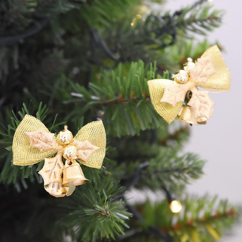 12pcslot pretty bow xmas ornament christmas tree decoration festival party home bowknots baubles baubles new year decoration - Pretty Halloween Decorations