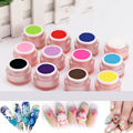 4D Carved Gel Nail Art Carving Sculpting Painting Coloured Gel Nail Modelling Manicure Decoration Builder Gel 7g 12 Colors