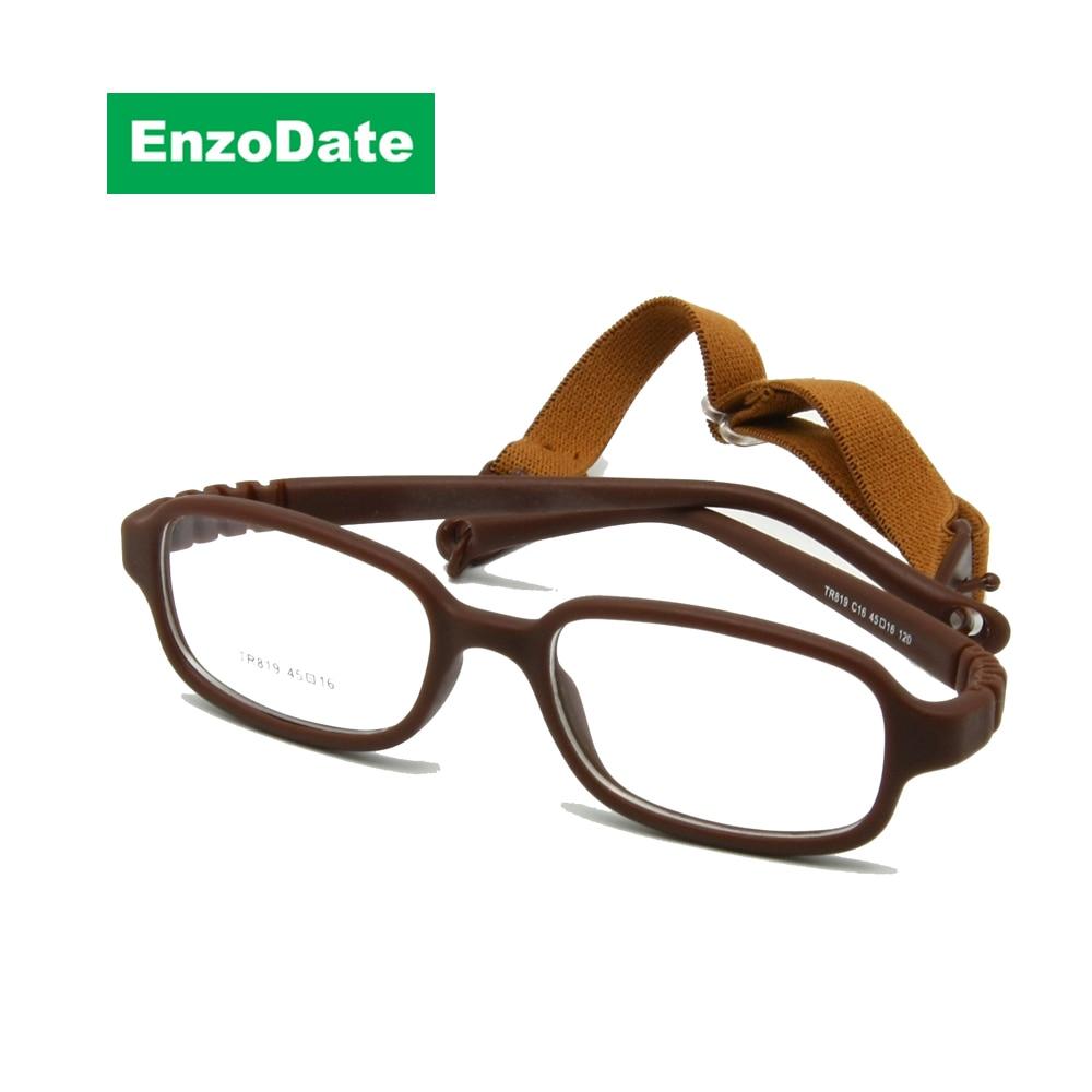 إطار نظارات الأطفال مرنة الحجم 45/16 لا المسمار ، TR90 نظارات الأطفال ، غير قابلة للكسر الآمن بنين بنات النظارات البصرية
