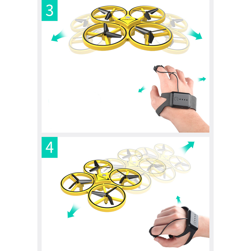 2019 Pneumatic Smart Watch Remote Control Toy Operate Aircraft Drone Remote Control Gravity Sense Aircraft Toy
