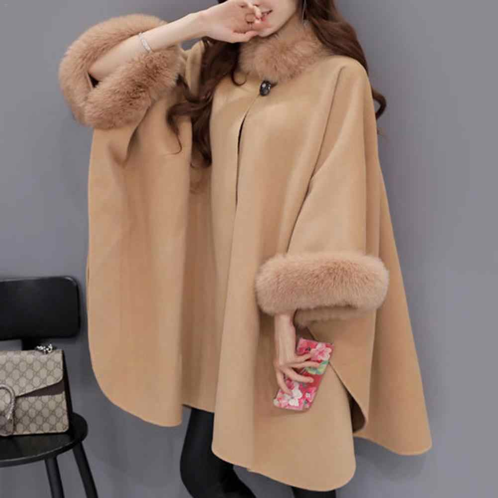 afcf7815eadb4 ... XXL Plus Size Long Winter Coat Women Cotton Overcoat Camel Poncho  Knitwear Shawl Cape Feminino Warm ...