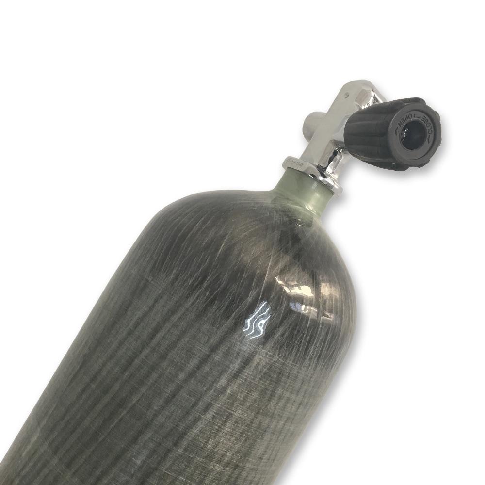 Feuer-atemschutzmasken Hell Feuer Schutz Acecare 6,8 Scuba Tank Mini Tauchen Carbon Faser Air Tank Druckluft Pcp 300bar Hochdruck Zylinder Ac168