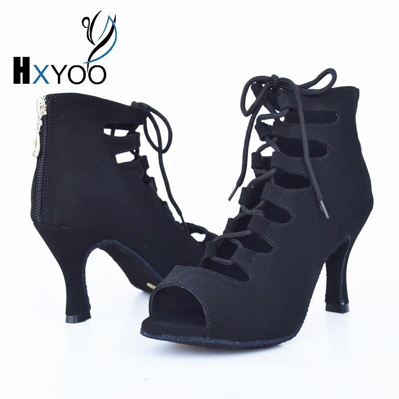 HXYOO Women Professional Latin font b Tango b font Flannel font b Dance b font Shoes