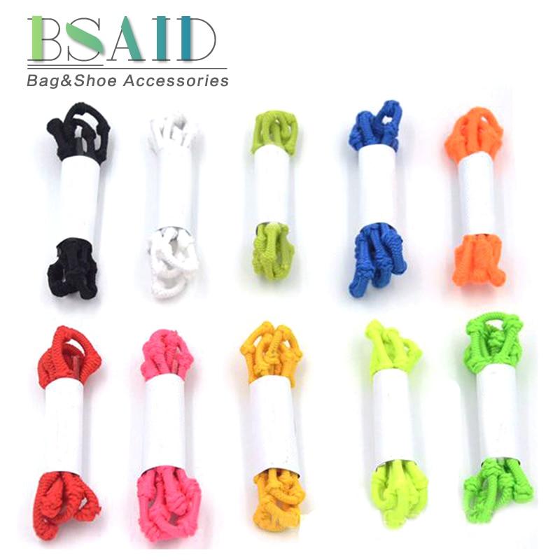 BSAID No Tie Shoelaces Knot Elastiqu New 75cm Candy Color Coiled Elastic Shoe Laces For Men Women Shoes Adult Kids Sneaker Shoes