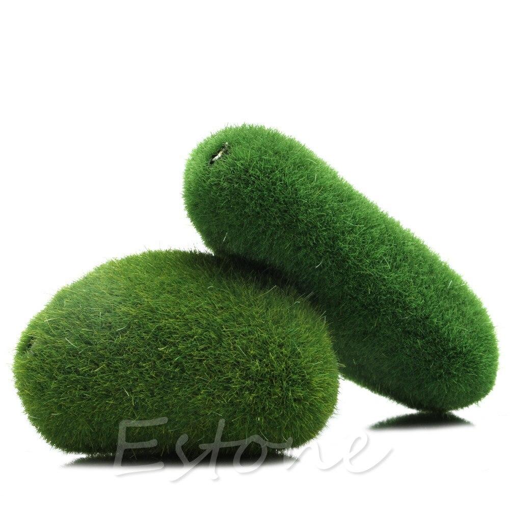 Y142 Artificial Marimo Moss Balls Grass Stones Turf Mini Fairy Garden Micro Terrarium