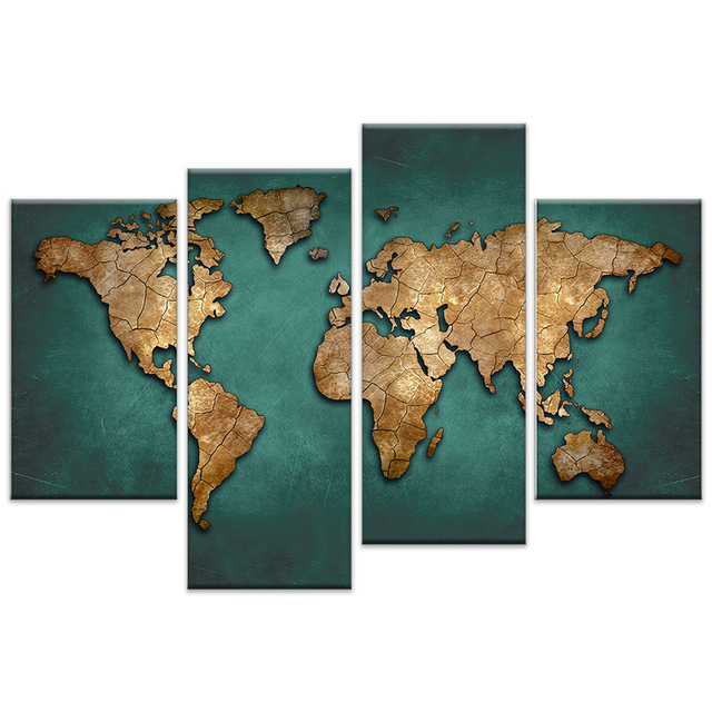 4 Pieces World Map Paintings Print On Canvas HD Abstract World Map on abstract woman painting, history painting, japan painting, acrylic painting, earth painting, architecture painting, egypt painting, colors painting, germany painting, usa painting, google painting, iceberg painting, world's best painting, middle east painting, india painting, australia painting, library painting, spain painting, israel painting,