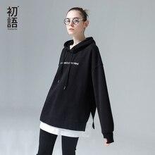 Toyouth, sudaderas Harajuku, sudaderas para mujer, moda 2019 de retales con letras bordadas, chándales con capucha, jerséis coreanos para mujer